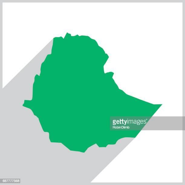 ethiopia green map icon - ethiopia stock illustrations, clip art, cartoons, & icons