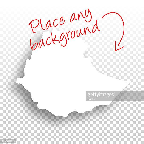 ethiopia map for design - blank background - ethiopia stock illustrations, clip art, cartoons, & icons