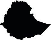 Ethiopia map on white background vector