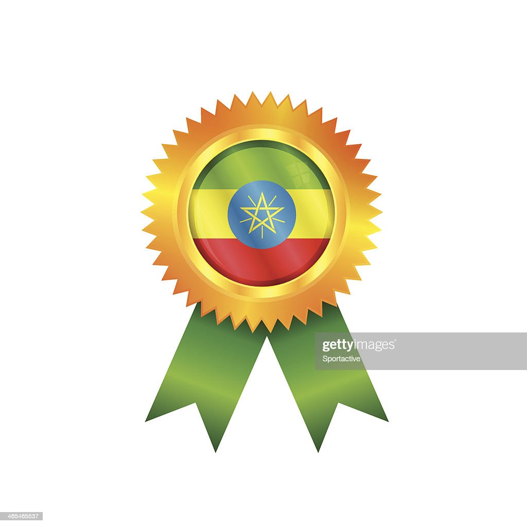 Ethiopia Medal Flag stock illustration - Getty Images
