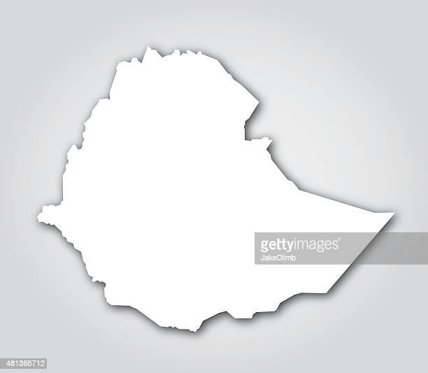 ethiopia silhouette white - ethiopia stock illustrations, clip art, cartoons, & icons