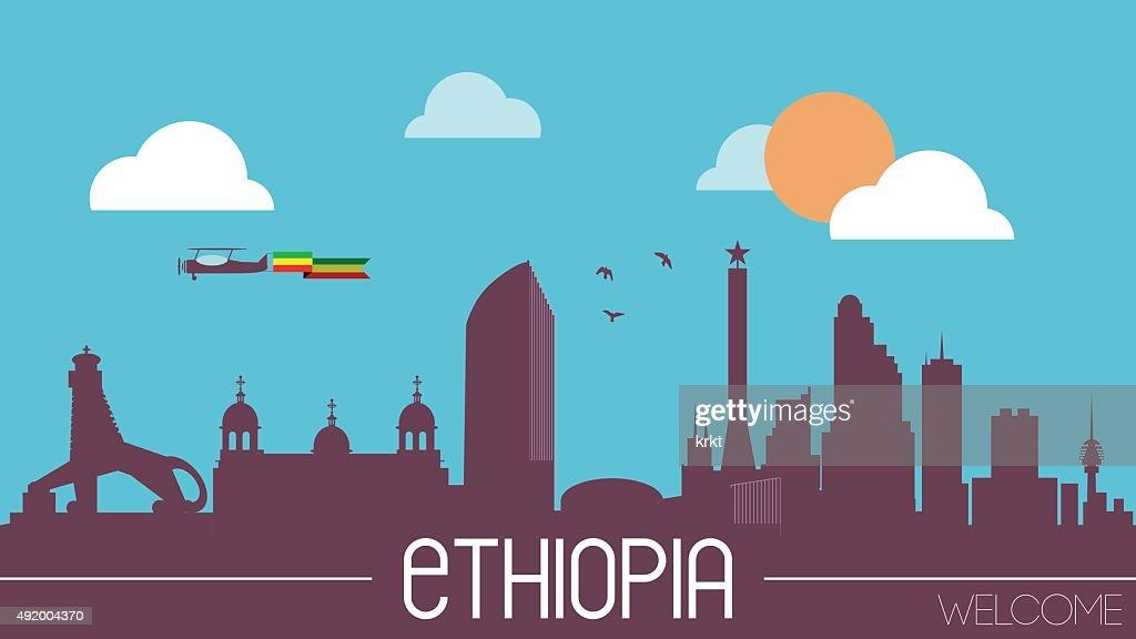 Ethiopia skyline silhouette