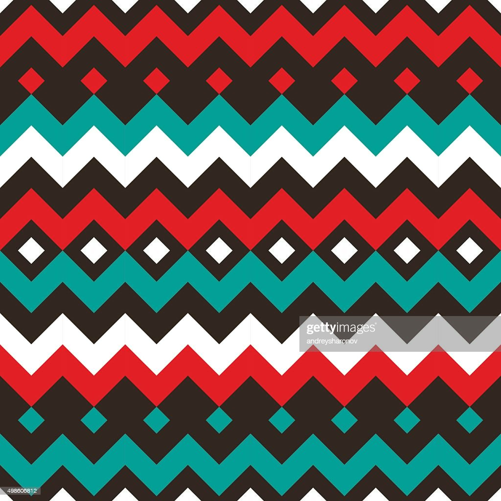 Ethnic abstract seamless pattern