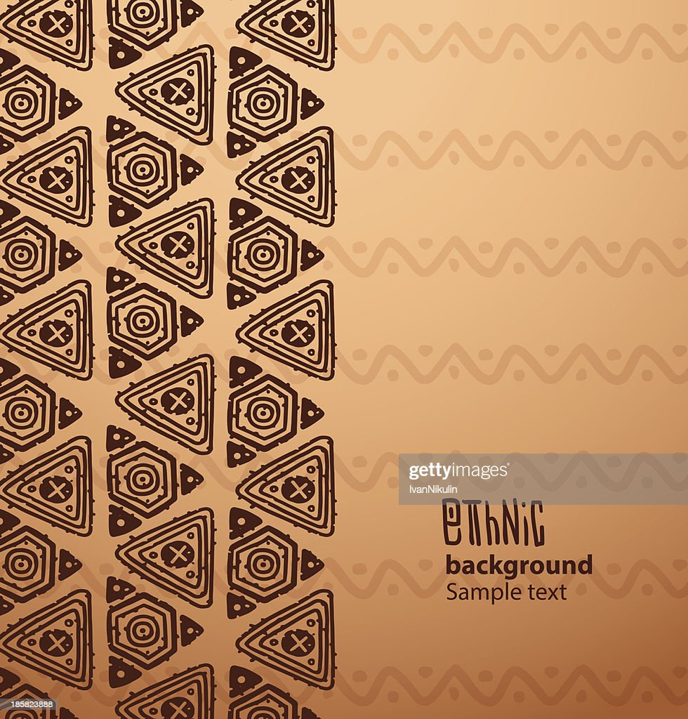 Ethnic background, brown triangles from the left side