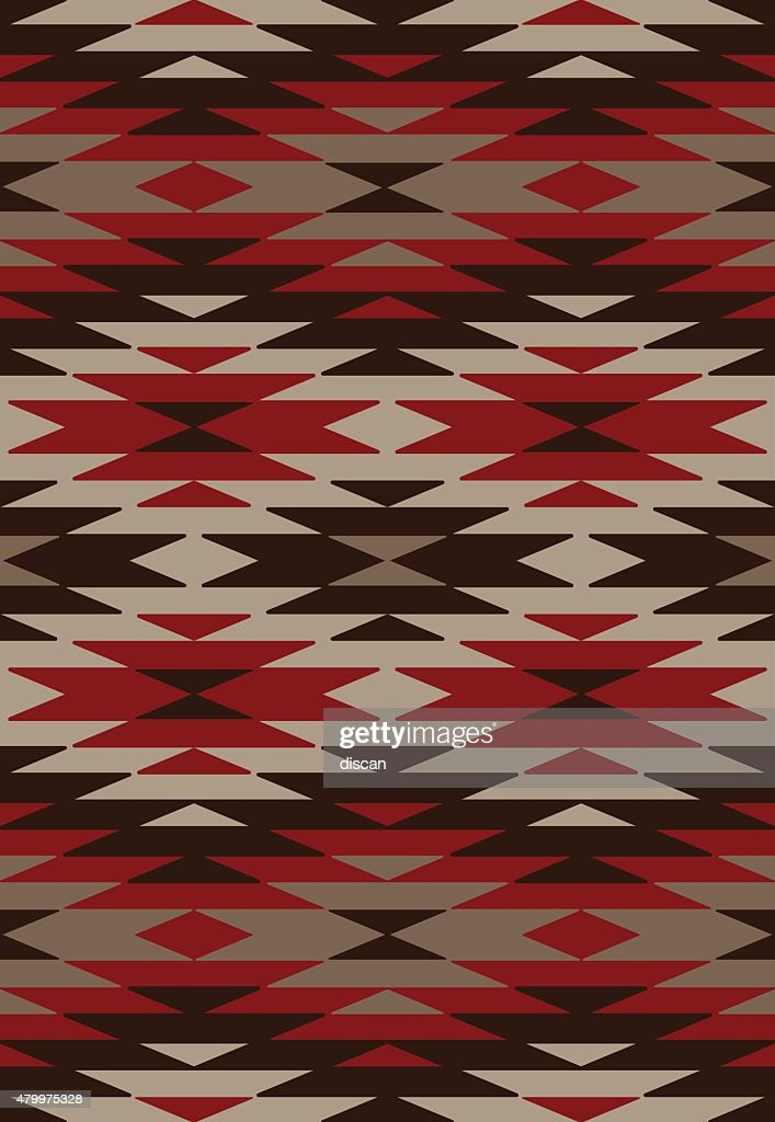 Ethnic background - Native American style : stock illustration