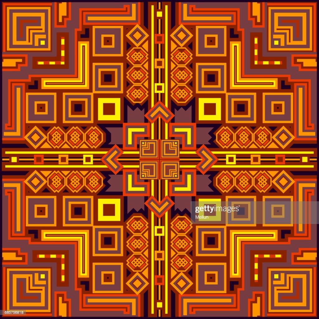 Ethnische Bunte Abstrakte Design Dekorative Geometrische Tribal ...