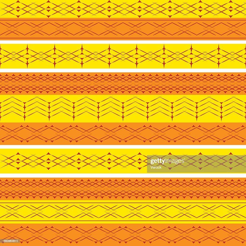 Ethnic geometry seamless pattern.