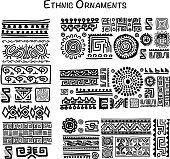 Ethnic handmade ornament for your design