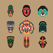 Ethnic mask icons