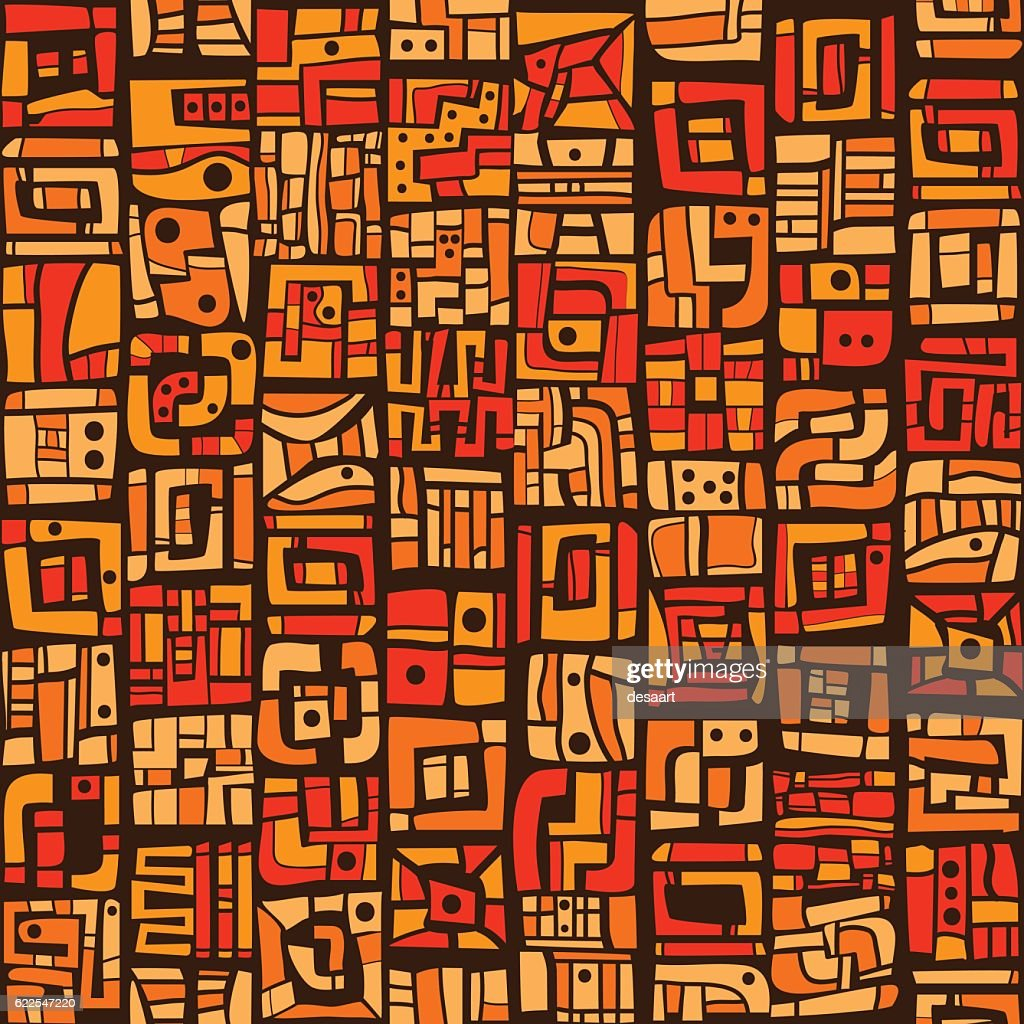 Ethnic orange pattern