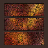 ethnic pattern card set.