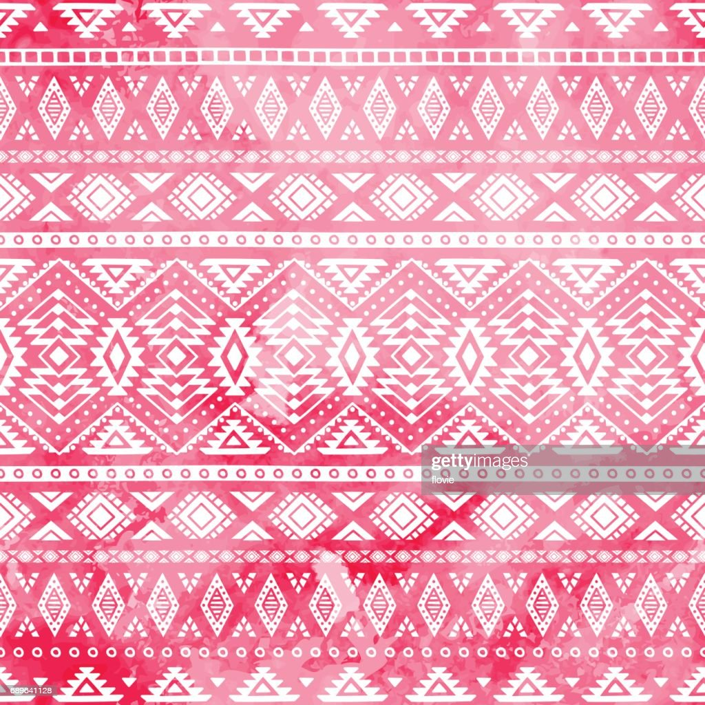 Ethnic pattern painted by hand.