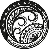 Ethnic style sticker