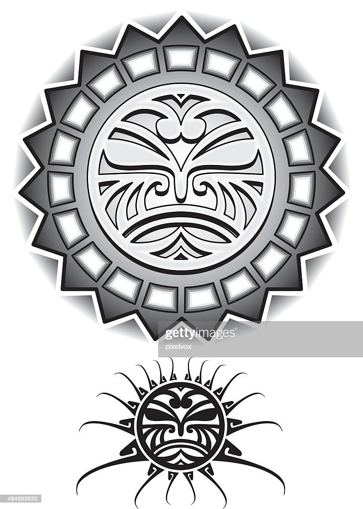 Ethnic Sun Tribal Vector illustration