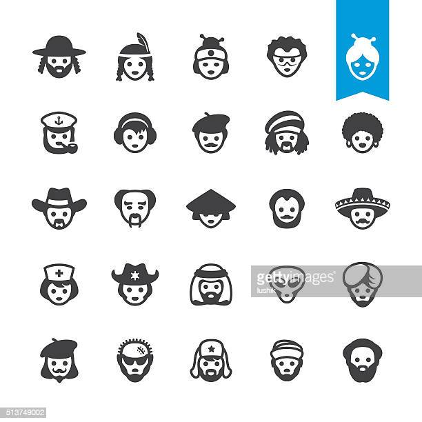 Ethnicity vector characters