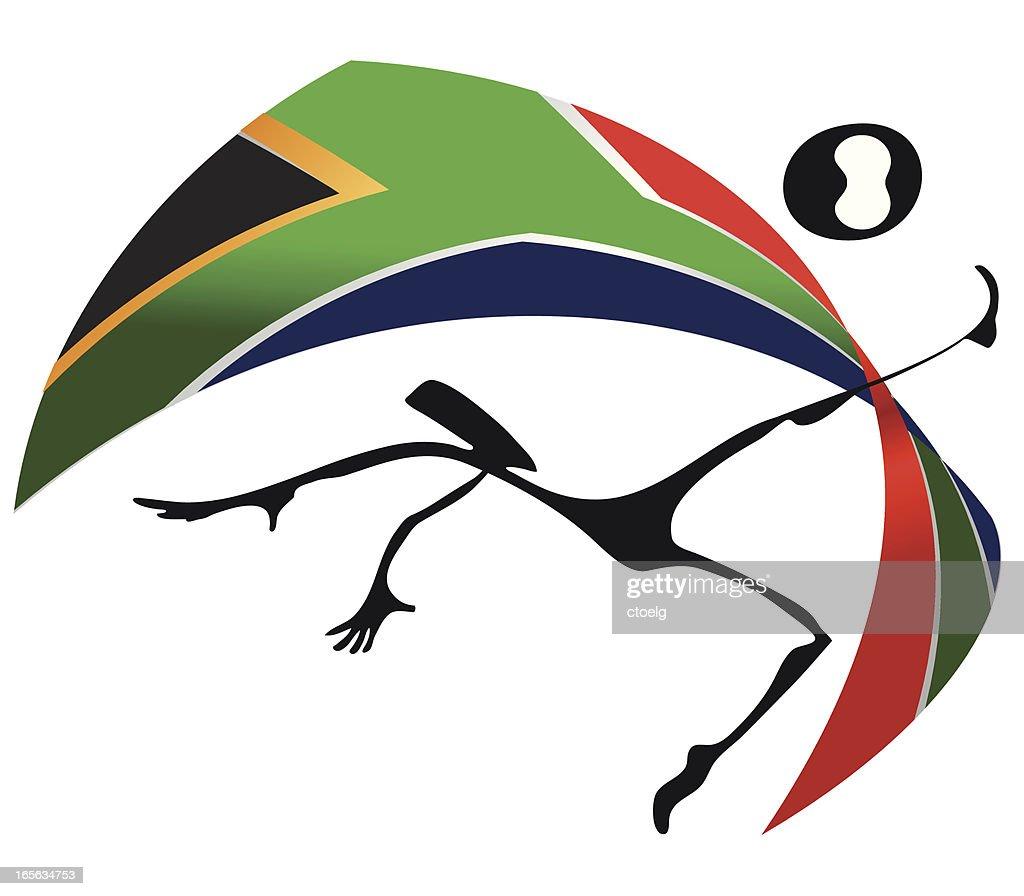 WM 2010 Ethno Style South Africa Flag : stock illustration