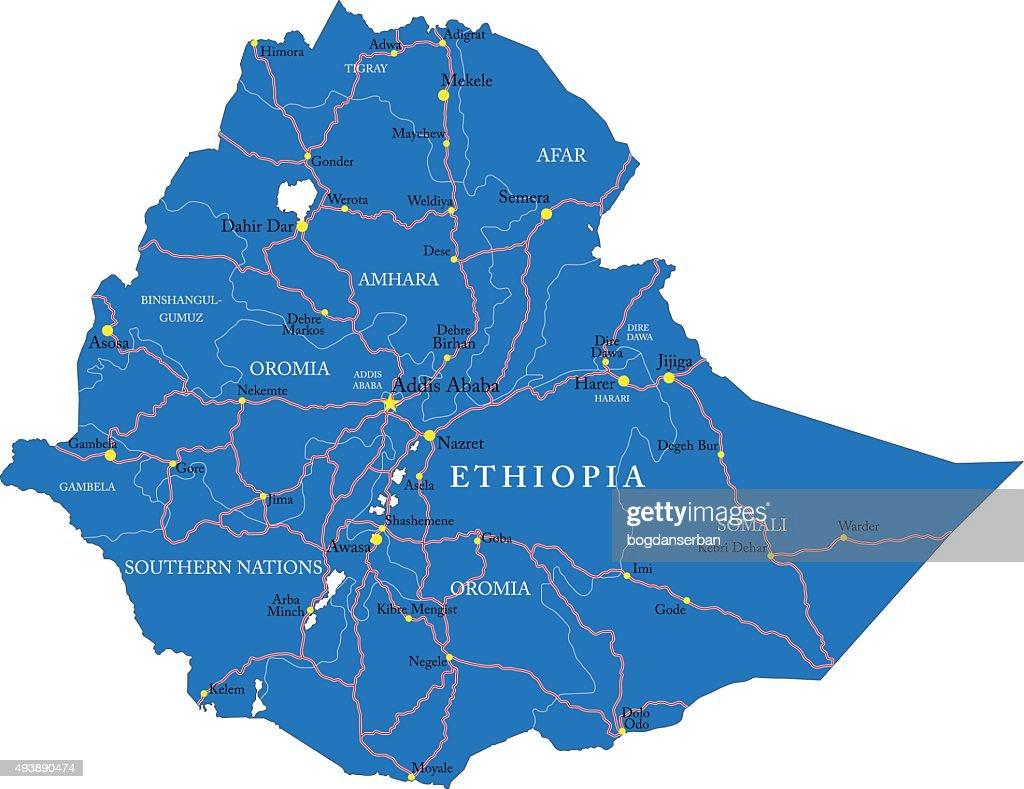 Etiopia map