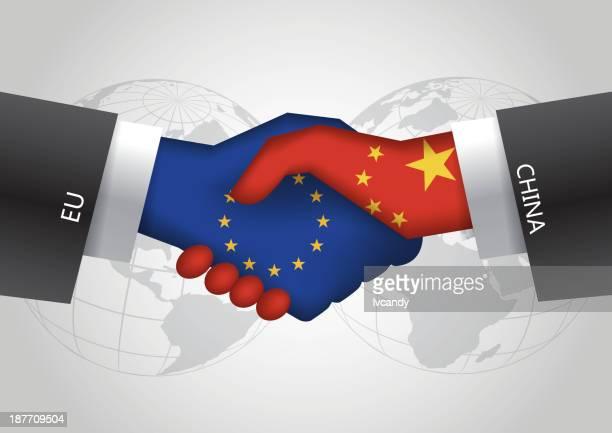 eu -中国握手 - ec点のイラスト素材/クリップアート素材/マンガ素材/アイコン素材