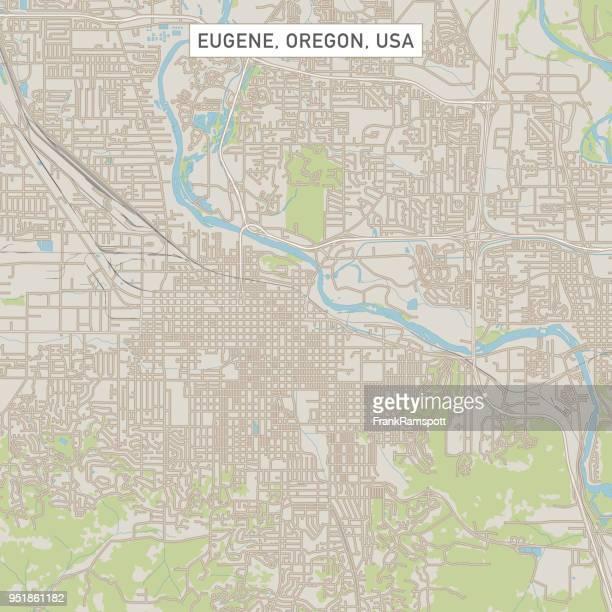 ユージーン オレゴン米国街マップ - ユージーン点のイラスト素材/クリップアート素材/マンガ素材/アイコン素材