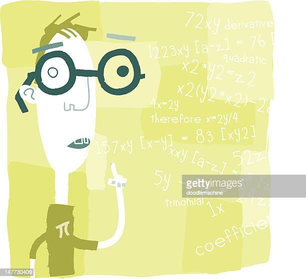 Eugine explique quelque chose de mathématiques