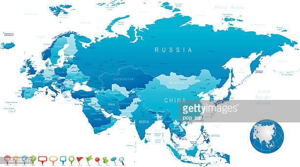 Eurasia - highly detailed map