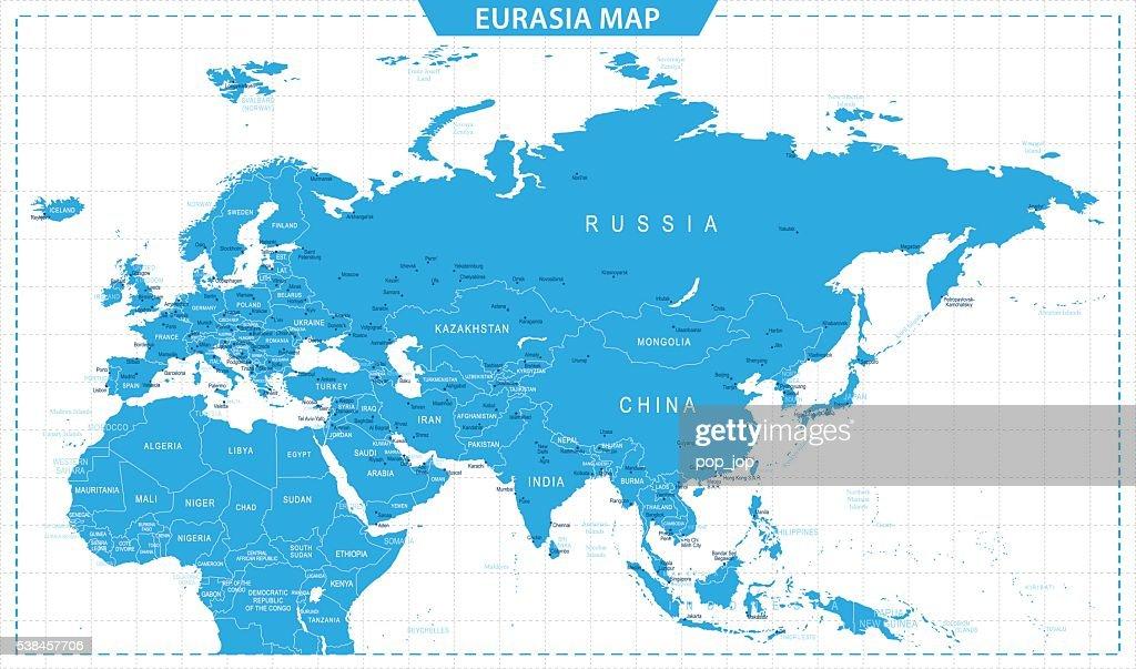 Eurasia Map - illustration