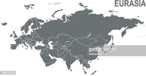 eurasia - eurasia stock illustrations
