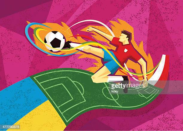 ilustraciones, imágenes clip art, dibujos animados e iconos de stock de gráfico de fútbol euro 2012 - cancha futbol