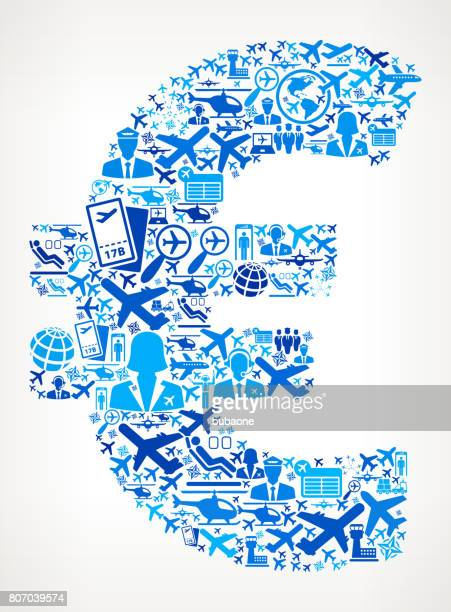 Euro Aviation and Air Planes Vector Graphic