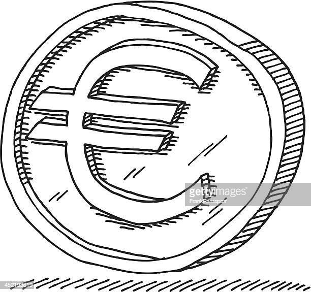 Euro Coin Drawing