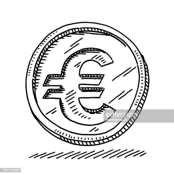 Euro-Münze Symbol Zeichnung