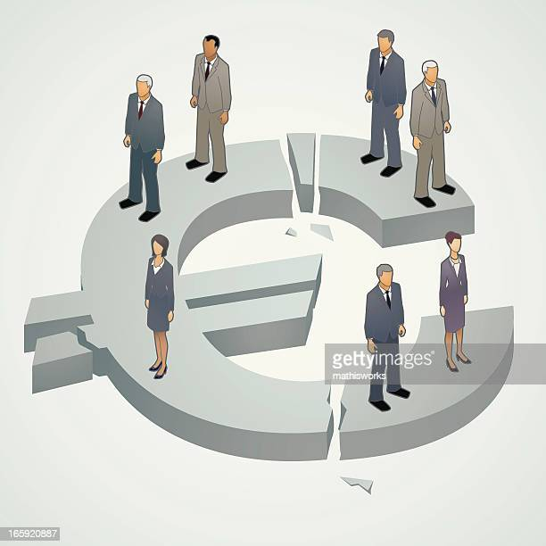 Euro Crisis Illustration