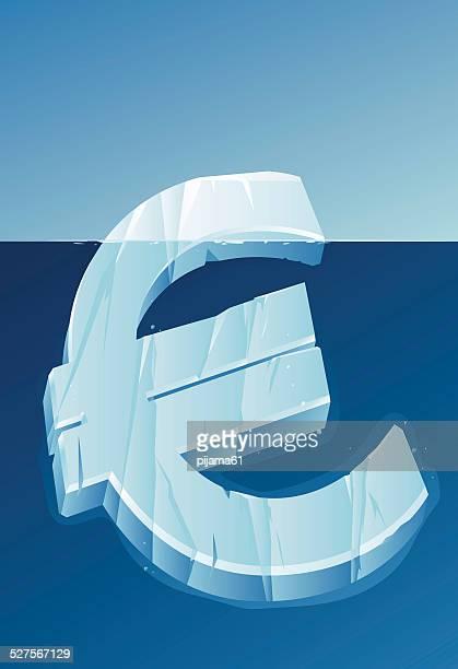 ilustrações de stock, clip art, desenhos animados e ícones de euro icebergue - unidade monetária da união europeia