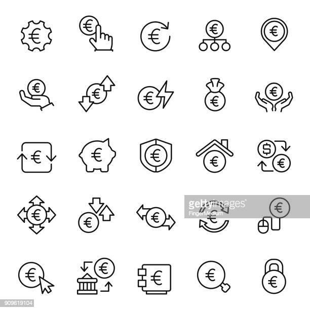 Euro icon set
