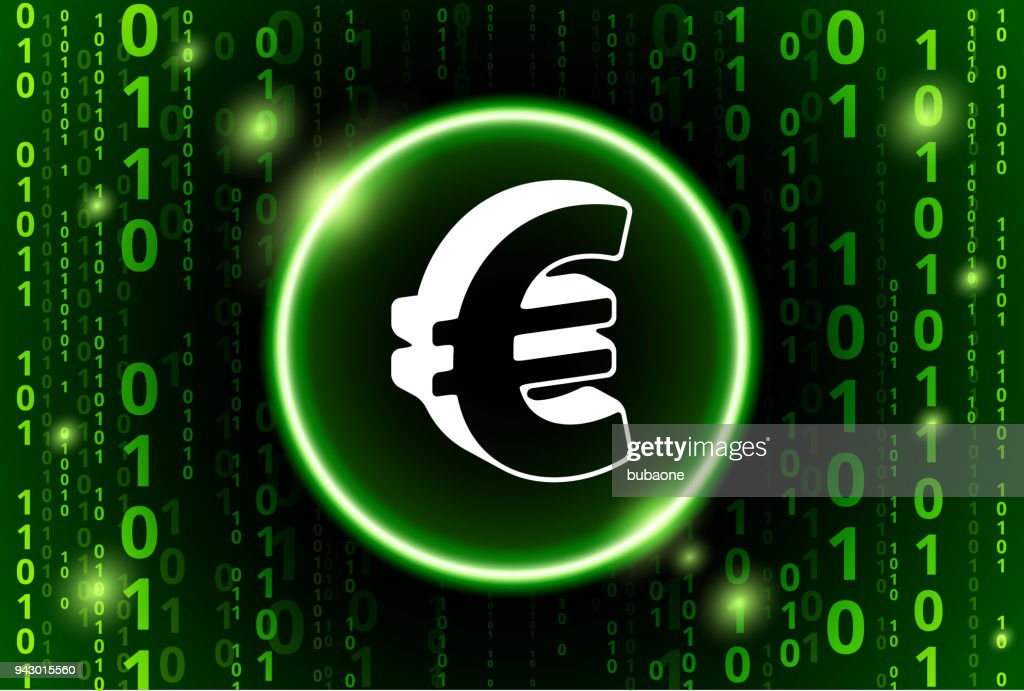 Euro Sign Binary Code Vector Pattern Background Vector Art Getty
