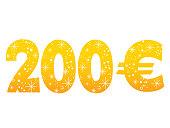 200 Euro sign icon symbol