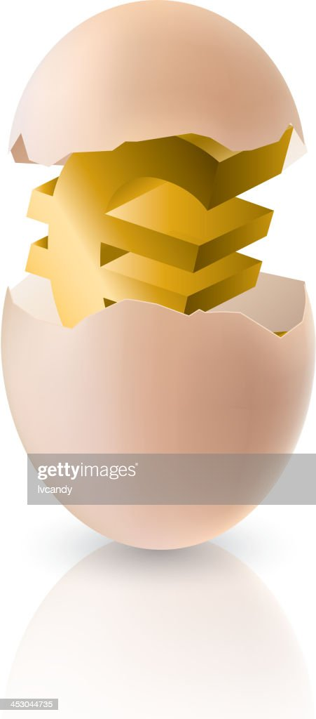 Euro sign in egg