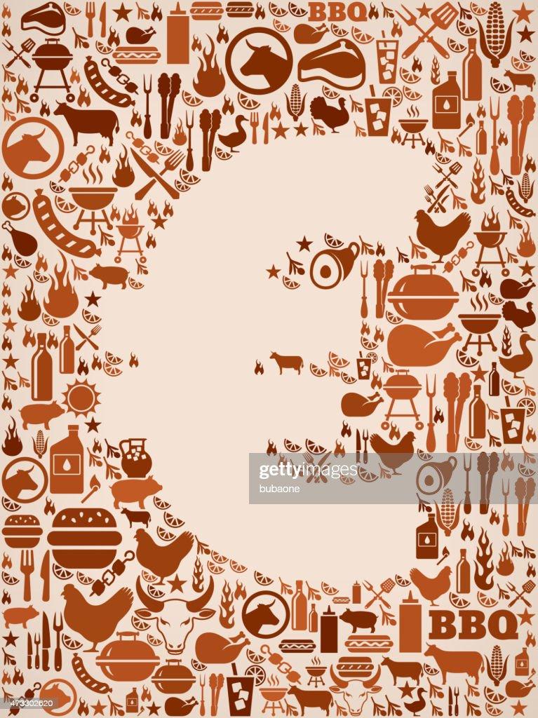ユーロサイン夏のバーベキューに招待状のベクトルの背景 ベクトルアート