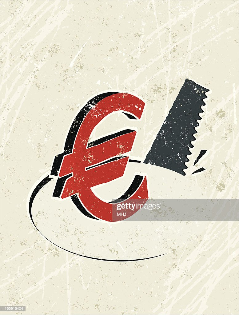 Euro Symbol And Saw Vector Art Getty Images