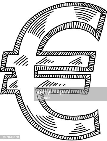 Euro Symbol Drawing Vectorkunst Getty Images