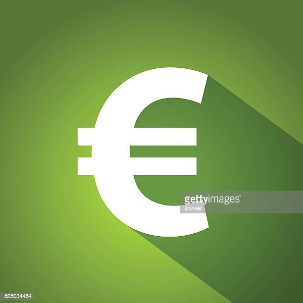 Euro symbol on green gradient background