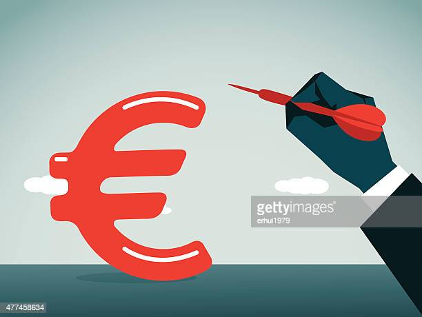 euro - subprime loan crisis stock illustrations