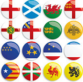 Europa flags buttons