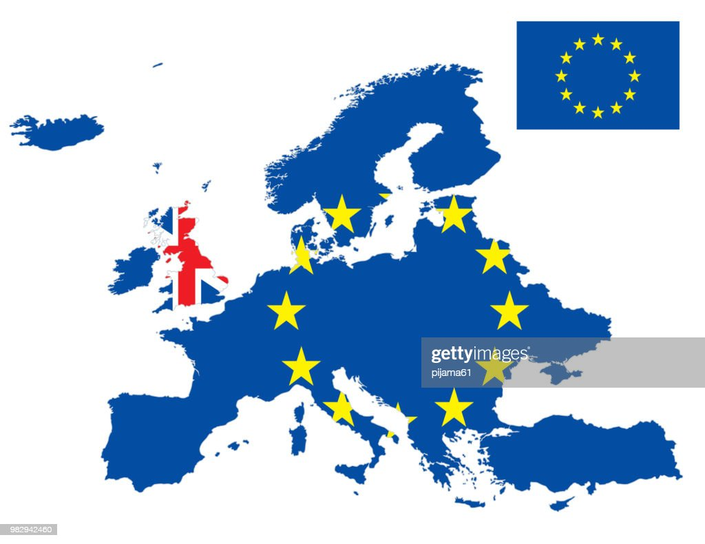 Europe And United Kingdom Flag Map High-Res Vector Graphic ... on italy europe map, finland europe map, afghanistan europe map, eurasia europe map, herzegovina europe map, the baltic states europe map, czech republic europe map, abkhazia europe map, france europe map, cardiff europe map, netherlands europe map, balearic europe map, bug river europe map, spain europe map, baden europe map, poland europe map, cambridge europe map, shetland europe map, european plain europe map, greenland europe map,
