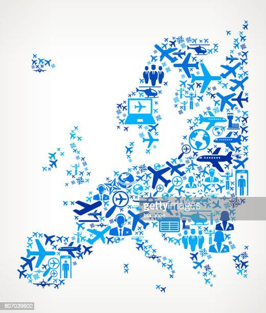 Europe Aviation and Air Planes Vector Graphic