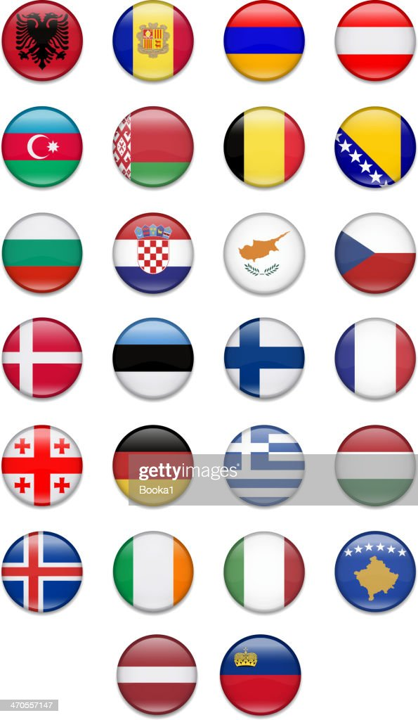 Europe Button Flag Collection- Part 1