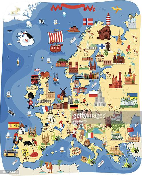 europe cartoon map - germany stock illustrations, clip art, cartoons, & icons