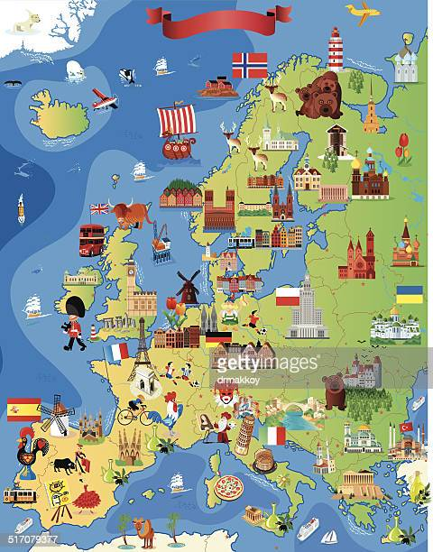 stockillustraties, clipart, cartoons en iconen met europe cartoon map - polen