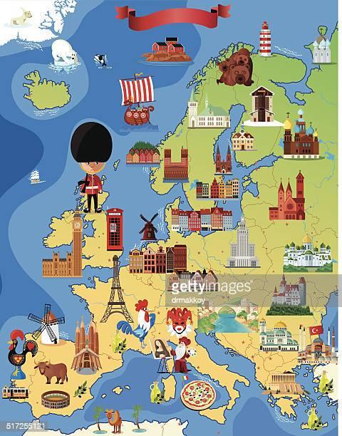 Europe Cartoon map