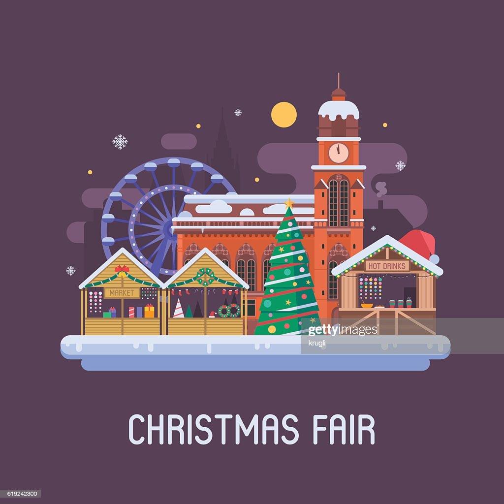 Europe Christmas Fair Background